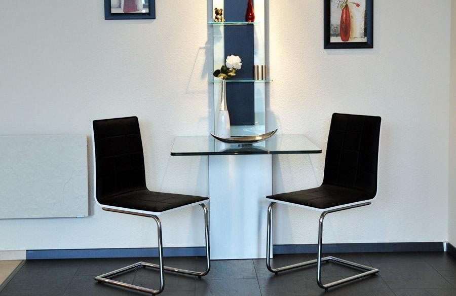 Esstisch Glas Holz Design : Esstisch Holz mit Glas – fb tischlerei & design